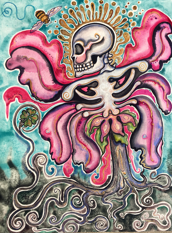 'Luck O the Bloomin Bones' by Lisa Luree