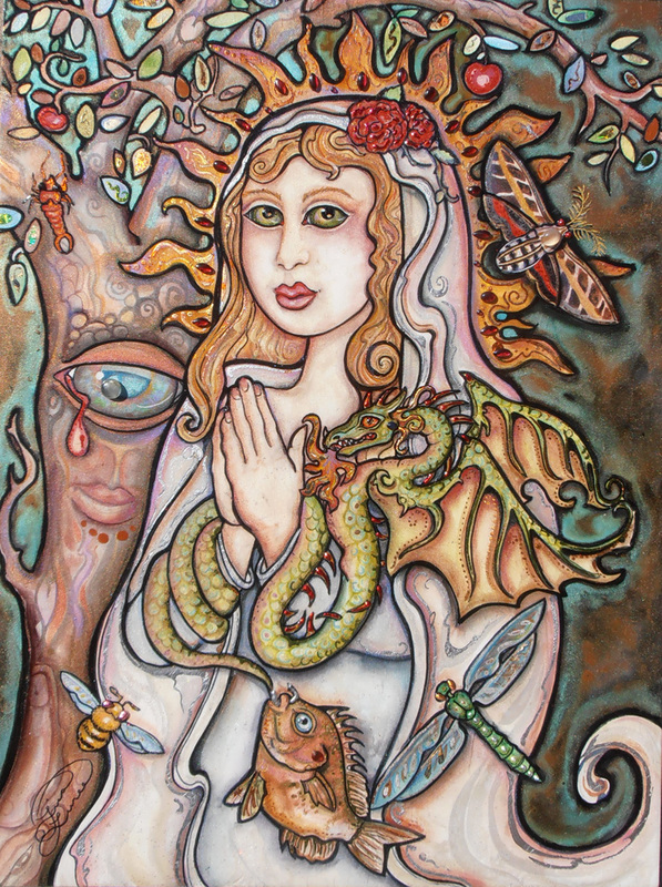 'Madonna Seraphic ~ Mother of Dragons' by Lisa Luree